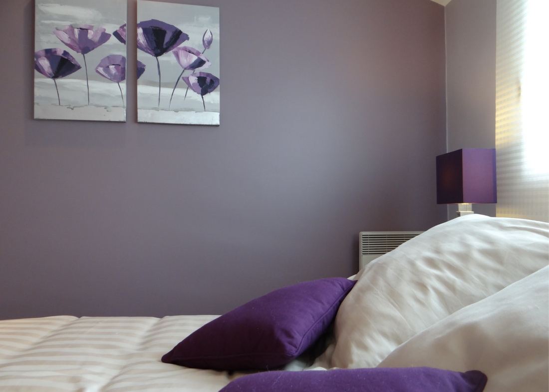 Douce revolution un amour de maison stephane lapouble for Chambre grise et violette